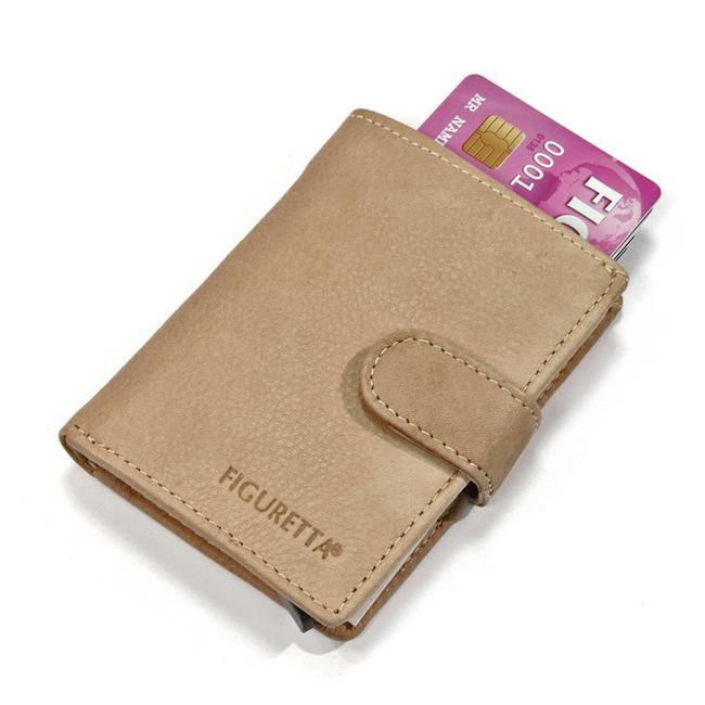 Figuretta Leren RFID Card Protector Creditcardhouder Nappa Liver