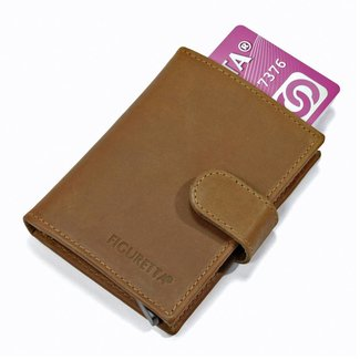 Figuretta Leren Card Protector met RFID bescherming Hunter Khaki