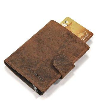 Figuretta Leren Card Protector met RFID bescherming Hunter Oily