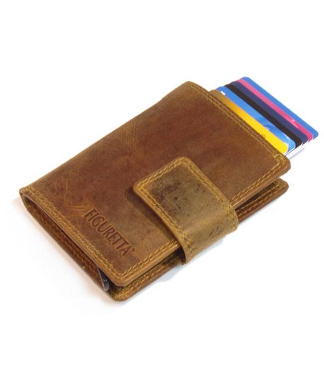 Figuretta Leren RFID Cardprotector met Muntgeldvak Hunter