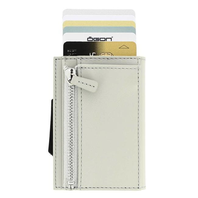 Ogon Designs Cascade Zipper Cardprotector met Muntgeldvak Zilver