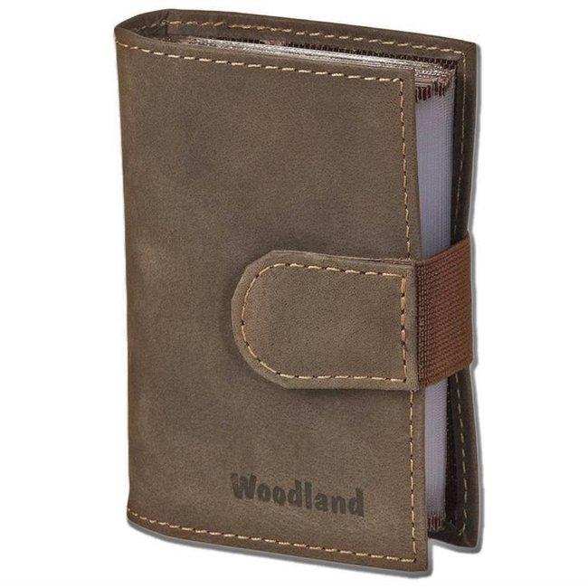 Woodland Luxe Leren Creditcardetui voor 20 pasjes Donkerbruin