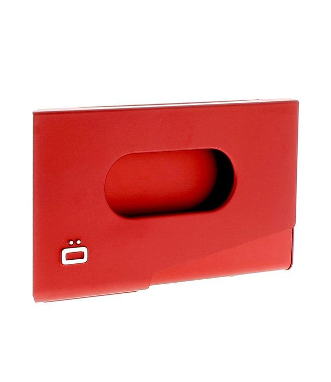 Ogon Designs One Touch Aluminium Visitekaarthouder Rood