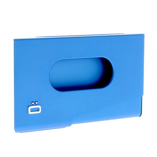 Ogon Designs One Touch Aluminium Visitekaarthouder Blauw