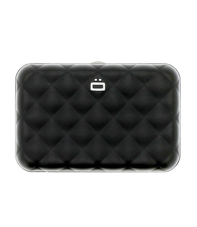 Ogon Designs Quilted Button Dames Creditcardhouder RFID Zwart