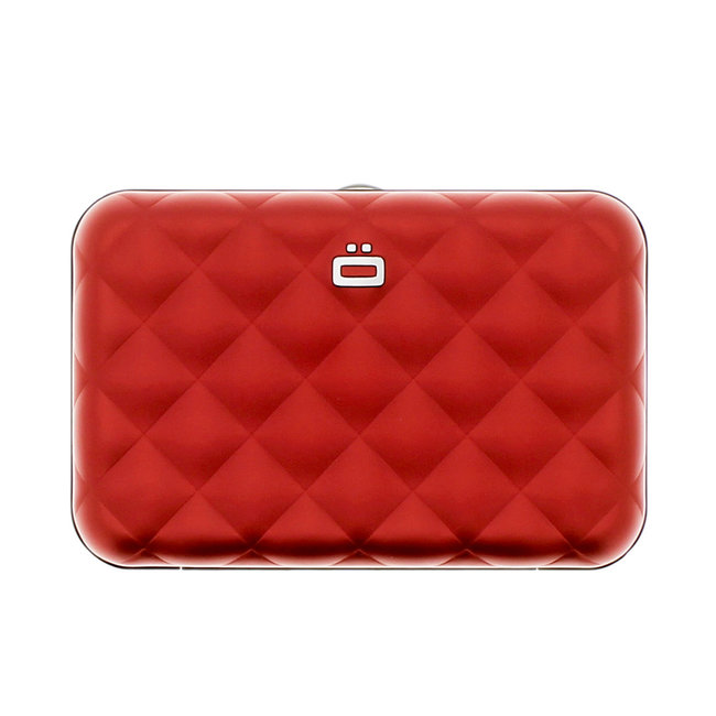 Ogon Designs Quilted Button Dames Creditcardhouder RFID Rood