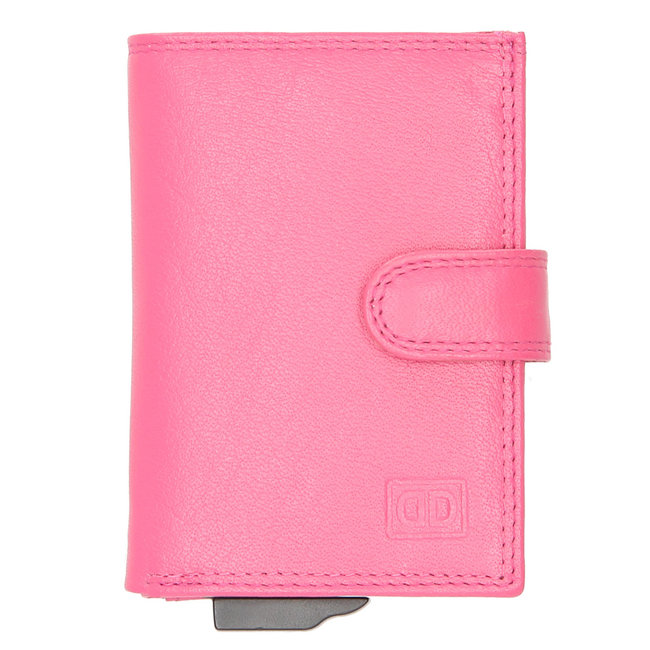 Double-D Jaipur Leren Creditcardhouder RFID Roze