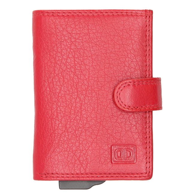 Double-D Jaipur Leren Creditcardhouder RFID Rood