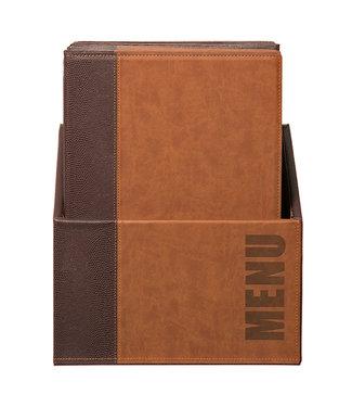 Securit Menukaarten Box 'TRENDY' A4 20 stuks Bruin