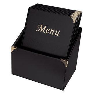 Securit Box met 10 Menukaarten 'BASIC' A4 Zwart