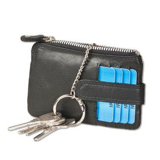 Rimbaldi Leren Sleuteltasje mini Portemonnee Zwart