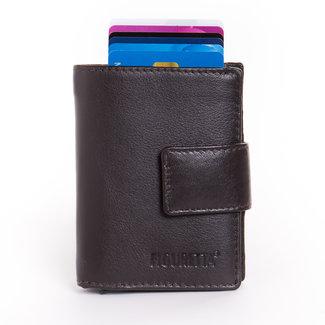 Figuretta Cardprotector Leren Portemonnee met RFID Bescherming Bruin