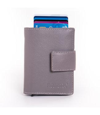 Figuretta Cardprotector Leren Portemonnee met RFID Bescherming Grijs