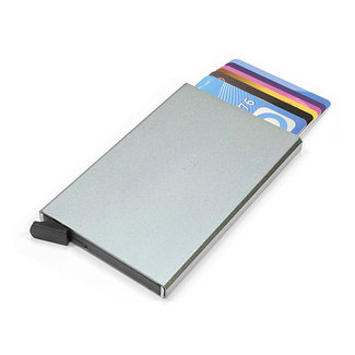 Figuretta Aluminium Hardcase RFID Cardprotector Warm Grijs