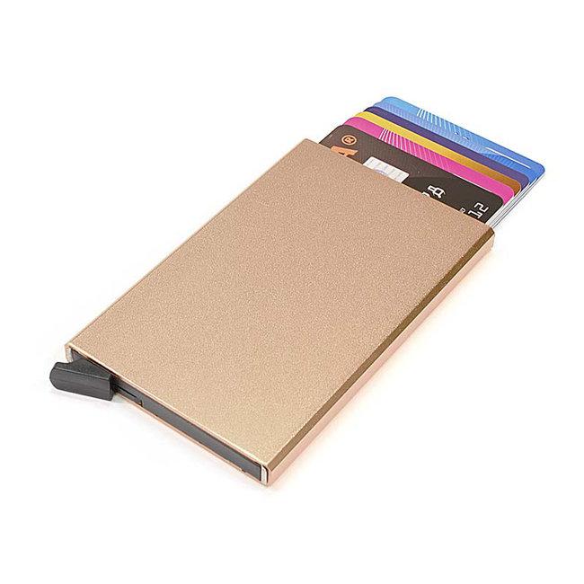 Figuretta Aluminium Hardcase RFID Cardprotector Lichtgoud