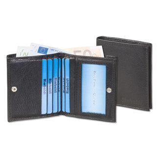 Rimbaldi Kleine Leren Portemonnee met RFID bescherming - Extra Compact - Zwart