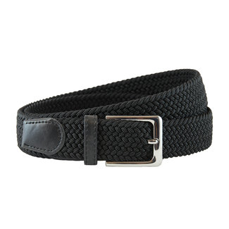 Houtkamp Gevlochten Riem - Elastische Comfort Stretch Belt - Unisex - Zwart