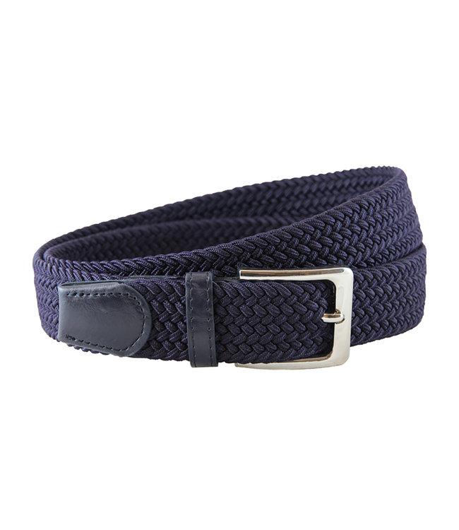 Houtkamp Gevlochten Riem - Elastische Comfort Stretch Belt - Unisex - Blauw
