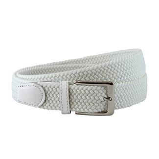 Houtkamp Gevlochten Riem - Elastische Comfort Stretch Belt - Unisex - Wit