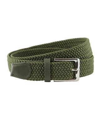Houtkamp Gevlochten Riem - Elastische Comfort Stretch Belt - Unisex - Groen