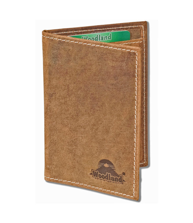 Woodland Leren Creditcardetui Vintage Pasjeshouder voor 10 pasjes - RFID - Hunter Oily