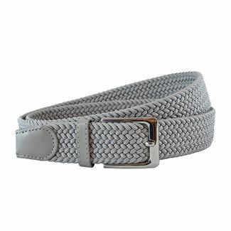 Houtkamp Gevlochten Riem - Elastische Comfort Stretch Belt - Unisex - Grijs