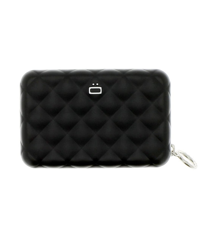 Ogon Designs Quilted Zipper RFID Dames Creditcardhouder met Rits - Zwart
