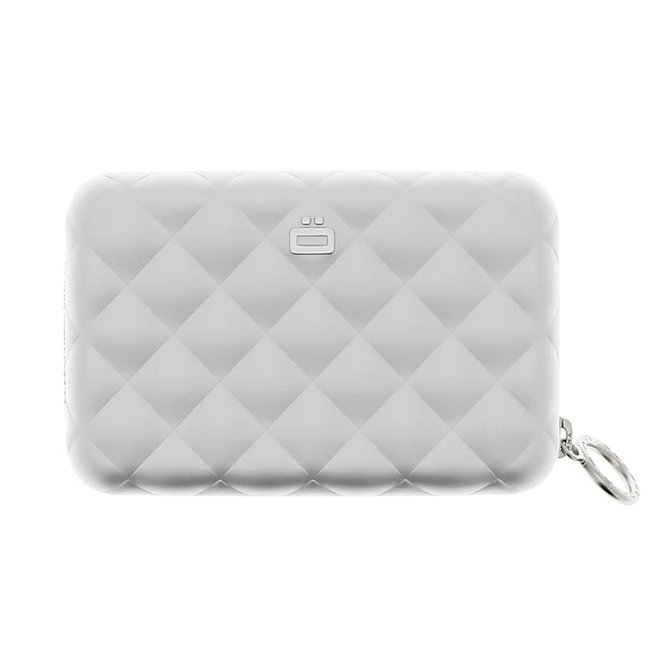 Ogon Designs Quilted Zipper RFID Dames Creditcardhouder met Rits - Zilver