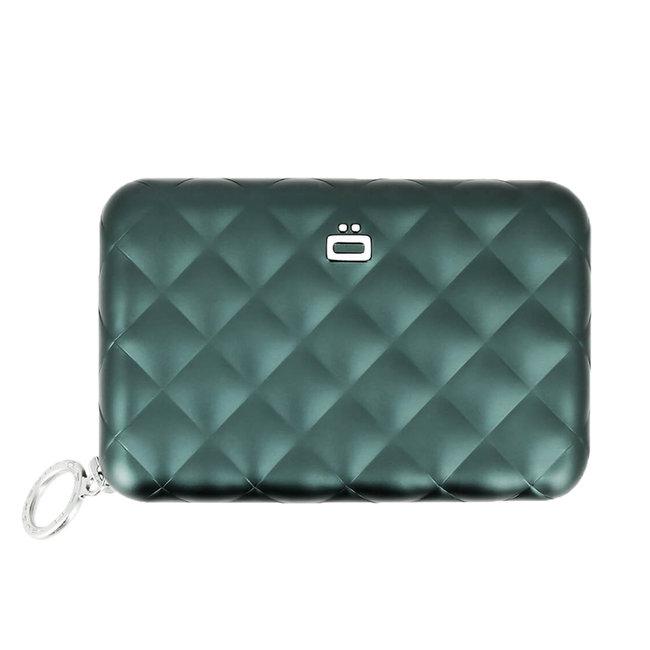 Ogon Designs Quilted Zipper RFID Dames Creditcardhouder met Rits - Platinum