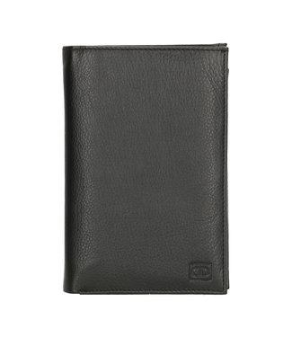 Double-D Leren Etui voor Paspoort Autopapieren en Pasjes RFID - Zwart