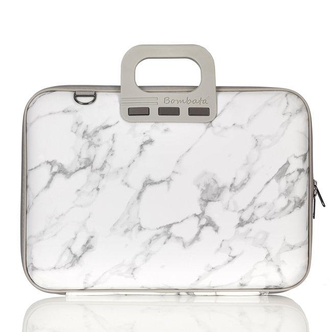 Bombata 15,6 inch Laptoptas met marmerprint - Limited Edition - Carrara