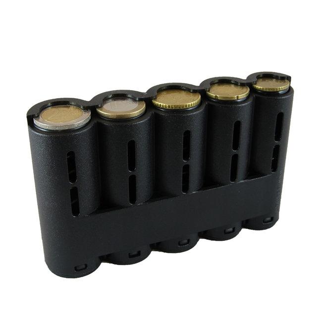 Houtkamp Horeca Eurokit Munthouder - 5 tubes - Zwart