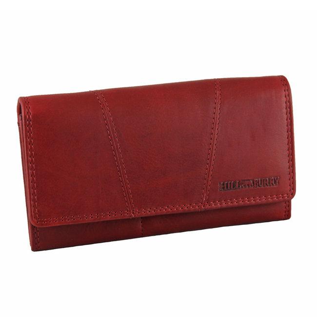 HillBurry Leren Dames Portemonnee - VL777023 - Vintage Leer - RFID - Rood