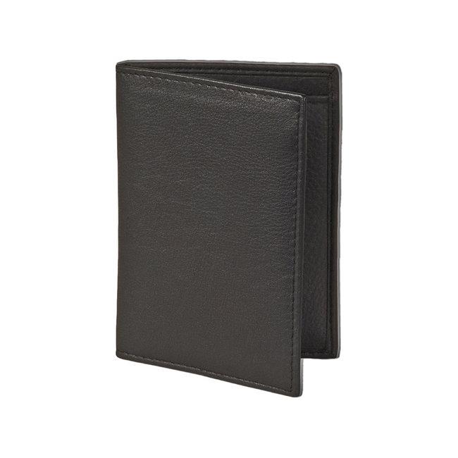 Rimbaldi Leren Creditcardetui voor 10 pasjes Zwart