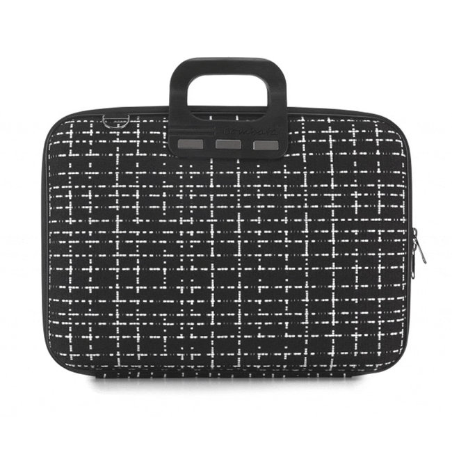 Bombata 'Tweed' 15 inch Nylon Laptoptas - Prato - 15,6 inch - Zwart