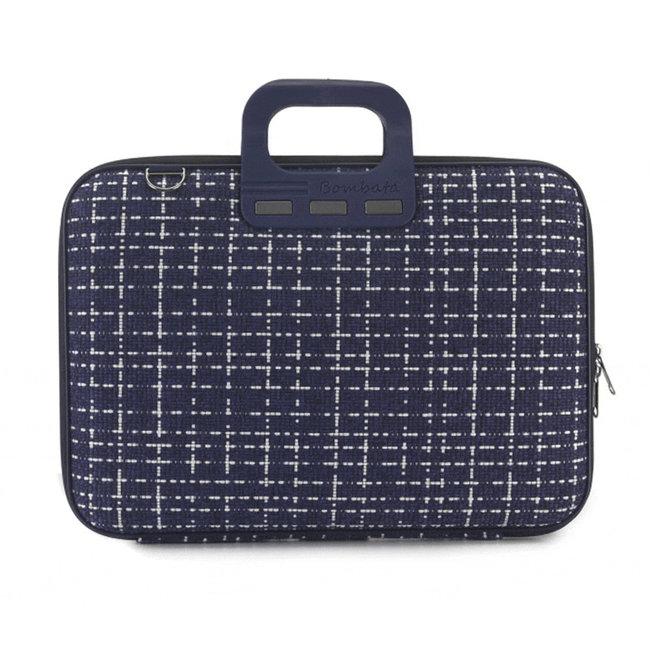 Bombata 'Tweed' 15 inch Nylon Laptoptas - Prato - 15,6 inch - Blauw