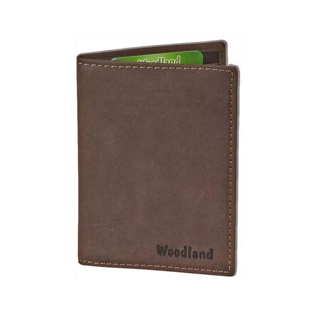 Woodland Leren Creditcardetui Pasjeshouder voor 10 pasjes Donkerbruin