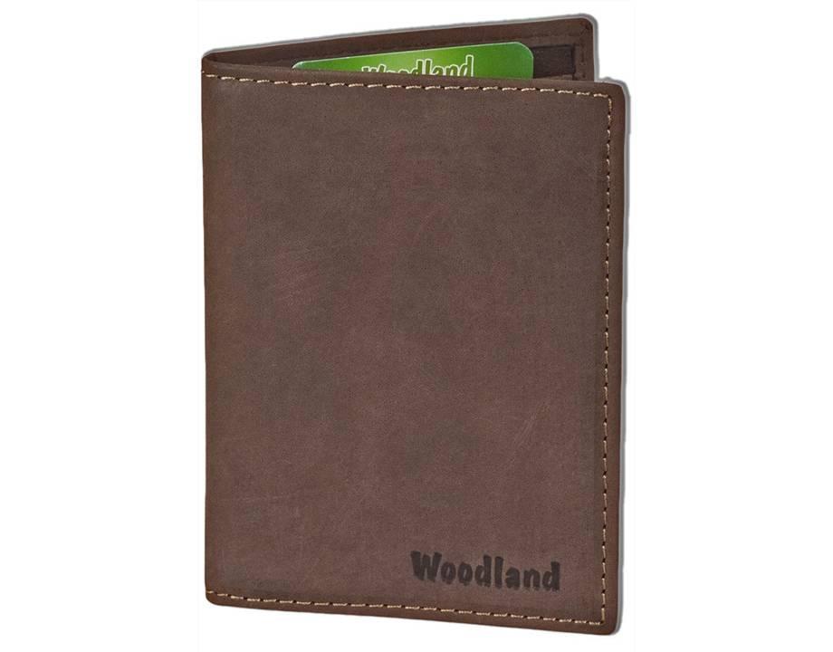 ee70f8d41d5 Woodland Leren Creditcardetui Pasjeshouder voor 10 pasjes Donkerbruin    Houtkamp Lederwaren - Houtkamp Lederwaren