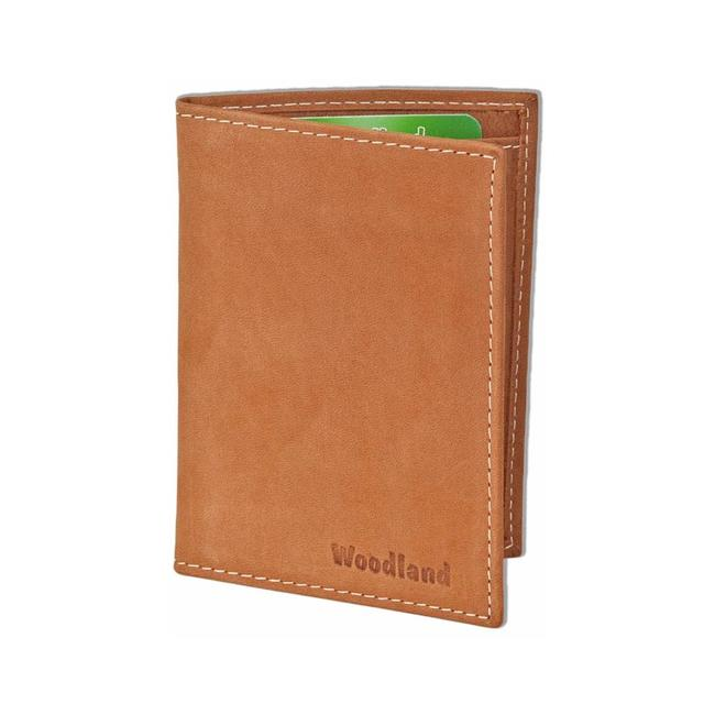 Woodland Leren Creditcardetui Pasjeshouder voor 10 pasjes Cognac