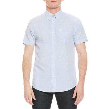 Ben Sherman Clipped Bengal Stripe Overhemd (Korte mouwen)