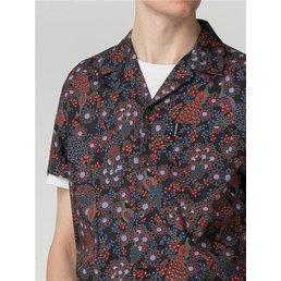 Ben Sherman Peacock Print Overhemd (Korte mouwen)