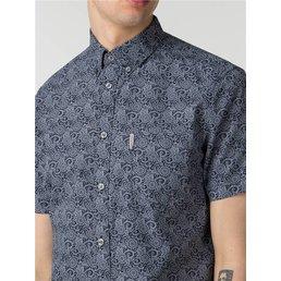 Ben Sherman Stencil Floral Overhemd (Korte mouwen)