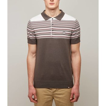 Pretty Green Nile Striped Knitted Polo