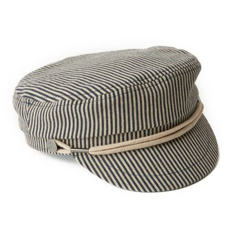 Pretty Green Stripe Denim Lennon Hat