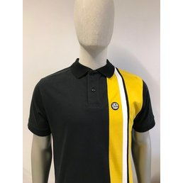 Ska & Soul Cut And Sew Stripe Front Polo
