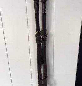 LJ-Leather martingaalriempjes bruin/goud