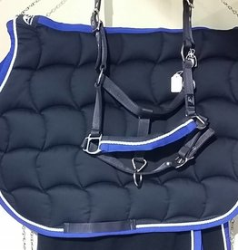 Anna Scarpati ANNA SCARPATI quadro navy binding royal blue piping white