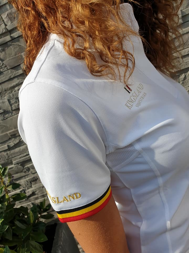KINGSLAND KINGSLAND Geel equibel ladies show shirt