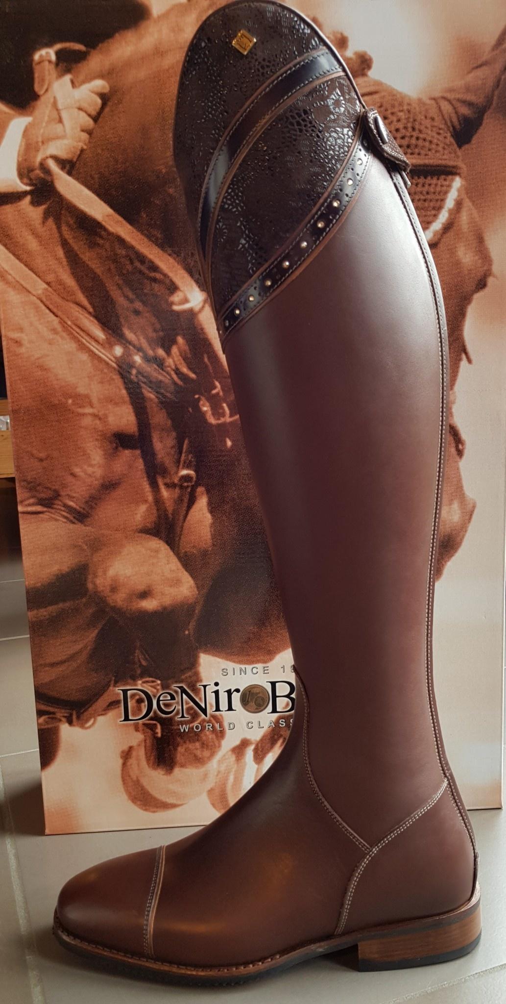De Niro Boot DENIROBOOT S2601 met top Hunter Liz - Dolcefiore Brown - maat 37 - medium kort - kuit small - Vibram zool