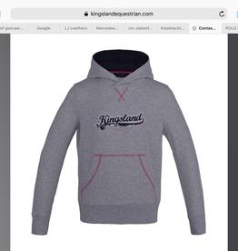 KINGSLAND KINGSLAND Contes sweater hooded grey/pink